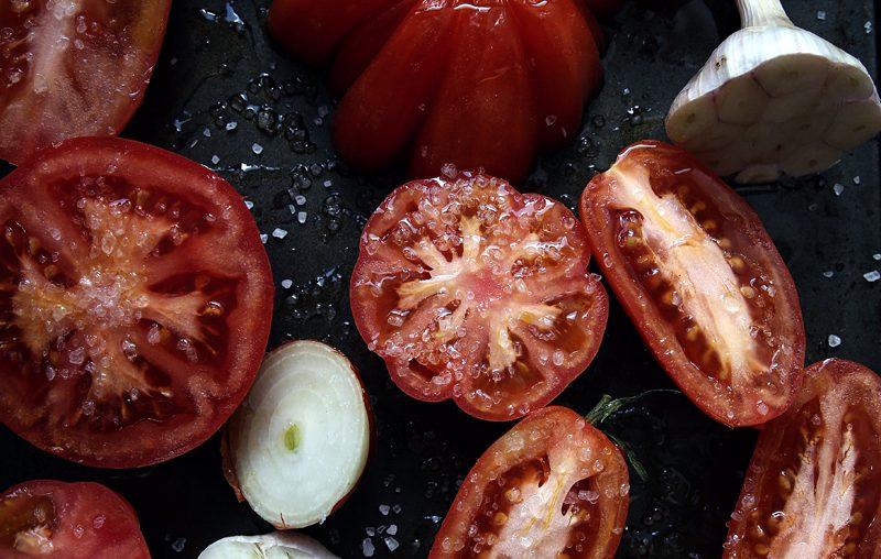 Polievka z pečených paradajok